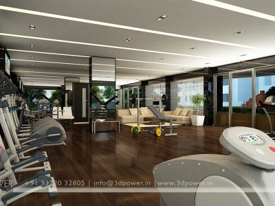3D Gym Architectural Interior