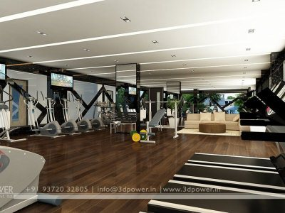 3D Gym Rendering Interior