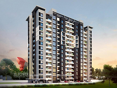 Agra-apartment-panoramic-virtual-walk-through3d-walkthrough-company-3d- model-architecture-evening-view