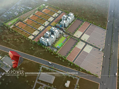 3d-Walkthrough-3d-elevation-apartment-3d-view-rendering-townhsip-buildings-birds-eye-veiw-evening-view