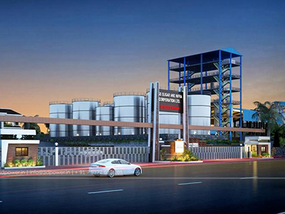 3d-model-architecture-elevation-3d-apartment-rendering-industrial-plant-panoramic-night-view