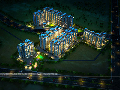Township-3d-apartment-rendering-evening-view-beutiful-walkthrough-animation-services