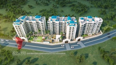 3d-architecture-studio-3d-real-estate-walkthrough-studio-high-rise-township-birds-eye-view