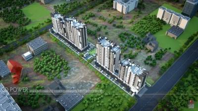Bird-eye-townshipArchitectural-flythrugh-real-estate-3d-walkthrough-animation-company