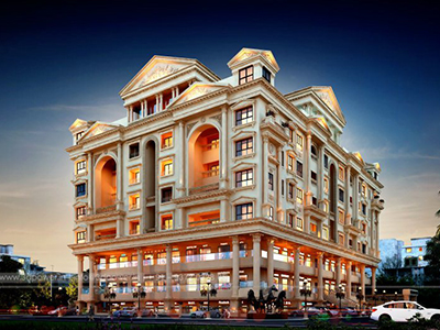 Aurangabad-Commercial-cum-residential-apartments-3d-design-architectural-rendering