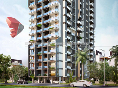 Aurangabad-Elevation-front-view-apartments-flats-gallery-garden3d-real-estate-Project-rendering-Architectural-3drendering-company