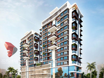 Aurangabad-Highrise-apartments-3d-elevation-rendering-company-animation-services