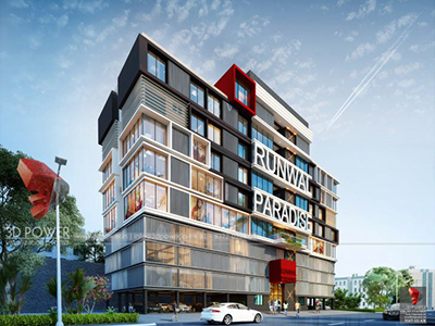 Aurangabad-Shoping-complex-elevation-3d3d-rendering-company-animation-3d-Architectural-animation-services