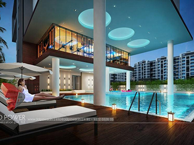 3d-Architectural-visualization-services-virtual-flythrough-luxerious-apartment-night-view-Aurangabad
