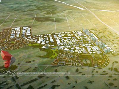 3d-architectural-flythrough-Aurangabad-3d-visualization-townhsip-apartments-birds-eye-view-day-view-exterior-designing