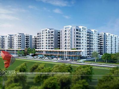 Aurangabad-3d-architectural-visualization-Architectural-visualization-services-township-day-view-bird-eye-view
