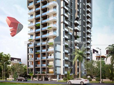 Aurangabad-Elevation-front-view-apartments-flats-gallery-garden3d-real-estate-Project-rendering-Architectural-3dwalkthrough