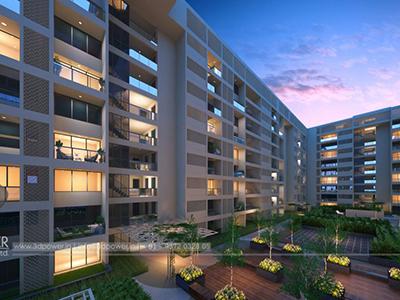 Aurangabad-Opaque-view-apartments-flats-evening-view