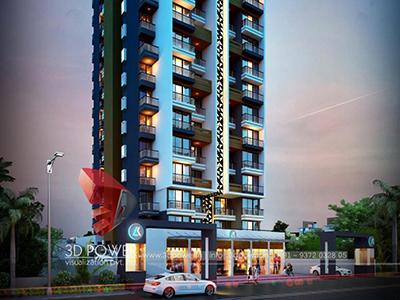 Aurangabad-virtual-walk-through-3d-walkthrough-architecture-services-building-apartment-evening-view-eye-level-view