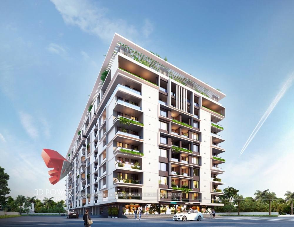 3d-Architectural-animation-services-3d-real-estate-3d-walkthrough-service-Aurangabad-bird-eye-view-apartment