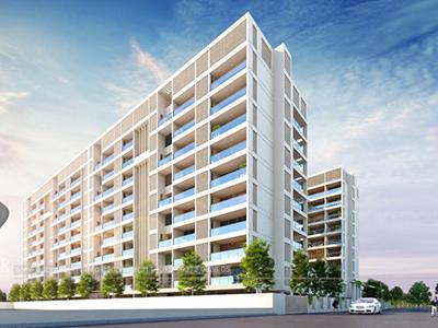 Apartments-view-3d-architectural-rendering-Architectural-flythrugh-real-estate-3d-3d-walkthrough-service-Aurangabad-Visualization-company