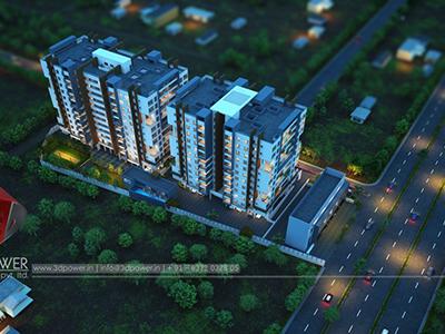 Bird-eye-township-apartment-virtual-rendering3d-real-estate-Project-rendering-Architectural-3d3d-walkthrough-service-Aurangabad