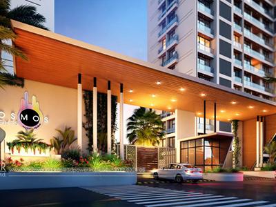 Front-apartments-gate-3d-view-architectural-flythrugh-real-estate-3d-3d-walkthrough-service-Aurangabad-Visualization-company