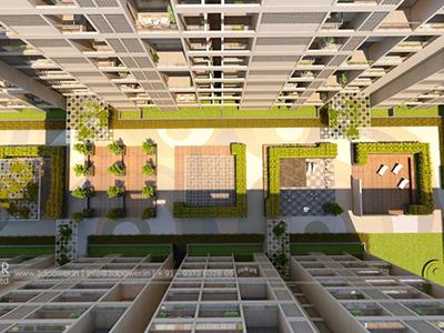 Front-view-home-Aurangabad-varanda-3d-Visualization-apartment-virtual-rendering