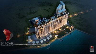 Top-view-apartments-rendering-beutiful-flats-3d-model-animation-architectural-animation-3d-3d-walkthrough-service-Aurangabad-company