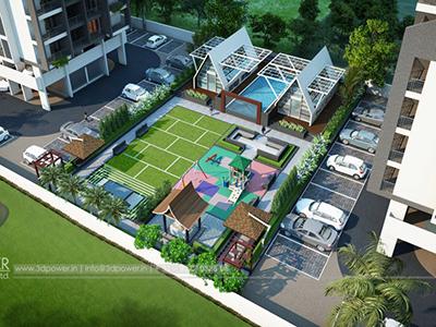 Top-view-parking-apartments-real-estate-3d-rendering-3d-model-animation-architectural-animation-3d-3d-walkthrough-service-Aurangabad-company