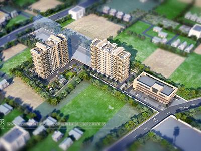 Top-view-townhip-big-project-3d-design-3d-walkthrough-service-Aurangabad-animation-services