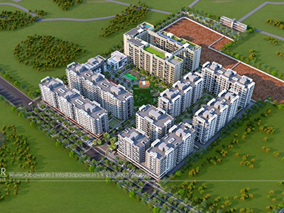 Top-view-township-3d-rendering-Architectural-rendering-real-estate-3d-3d-walkthrough-service-Aurangabad-animation-company