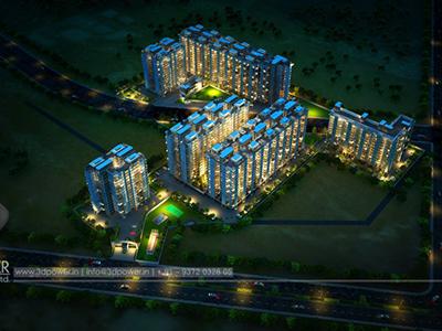 Township-3d-rendering-evening-view-beutiful-3d-walkthrough-service-Aurangabad-animation-services