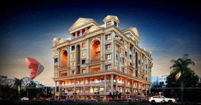 Aurangabad-architect-design-firm-3d-walkthrough-service-provider-company-studio-apartment-night-view-eye-level-virtual-walkthrough-service-provider