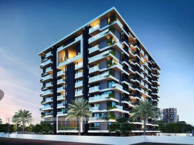 Bangalore-Front-view-beutiful-apartmentsArchitectural-flythrugh-real-estate-3d-walkthrough-animation-companny