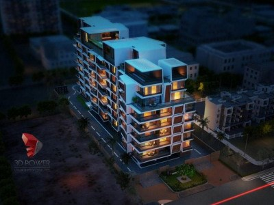 3d-animation-rendering-service-provider-service-providers-elevation-rendering-appartment-Bangalore-buildings-birds-eye-view-night-view
