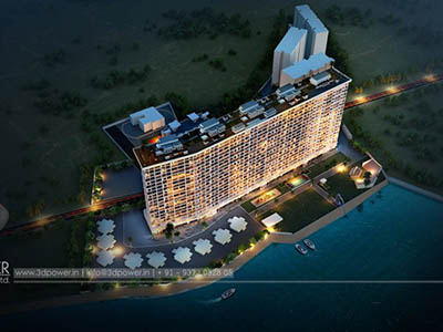3d-rendering-service-provider-company-architecture-services-buildings-Bangalore-exterior-designs-night-view-birds-eye-view