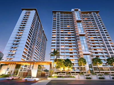 Bangalore-High-rise-apartments-bird-eye-view-rendering-service-provider-animation-services