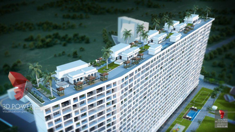 Bangalore-Highrise-apartments-top-view-multiple-flats-3d-design3d-model-visualization-architectural-visualization-3d-walkthrough-company