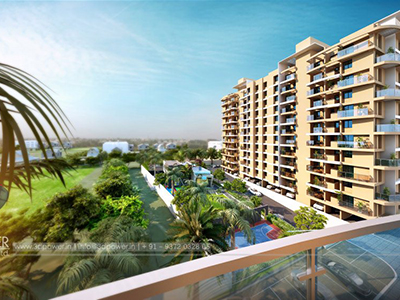 Bangalore-Shoping-complex-elevation-entry-gate3d-3d-animation-animation-3d-Architectural-animation-services