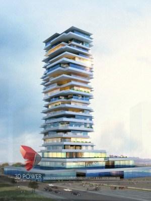 Bangalore-3d-Architectural-animation-services-3d-walkthrough-service-provider-service-providers-high-rise-apartment-day-view