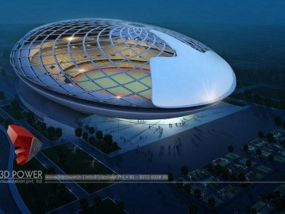 Bangalore-3d-model-architecture-3d-architectural-drawings-sports-stadium-birds-eye-view-night-view