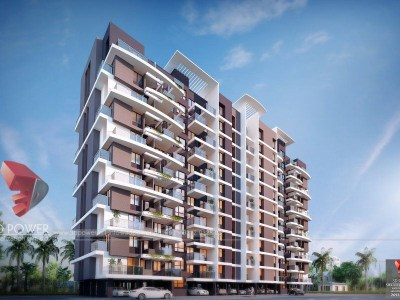 Bangalore-Highrise-apartments-front-view-3d-model-visualization-architectural-visualization-3d-walkthrough-service-provider-company
