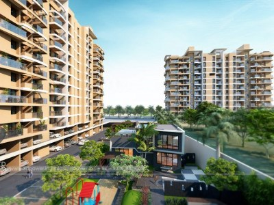 Bangalore-Towsnhip-view-side-elevationArchitectural-flythrugh-real-estate-3d-walkthrough-service-provider-animation-company