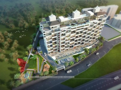 Bangalore-architectural-visualization-3d-walkthrough-company-apartments-birds-eye-view-evening-view-3d-model-visualization