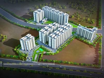Bangalore-bird-eye-view-rendering-33d-design-township3d-real-estate-Project-rendering-Architectural-3dwalkthrough