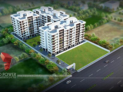 Bangalore-3d-rendering-service-exterior-render-architecturalbuildings-apartment-day-view-bird-eye-view