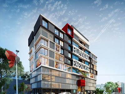 Bangalore-Shoping-complex-elevation-3d3d-real-estate-walkthrough-visualization-3d-Architectural-visualization-service