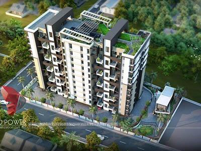 Bangalore-3d-animation-architectural-animation-virtual-walkthrough-freelance-comercial-complex-evening-view