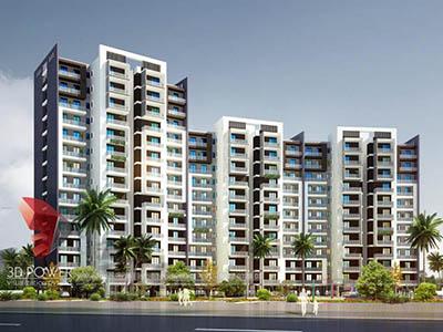 Bangalore-Apartment-Parking-garden-bird-view-walkthrough-freelance-company-animation-services