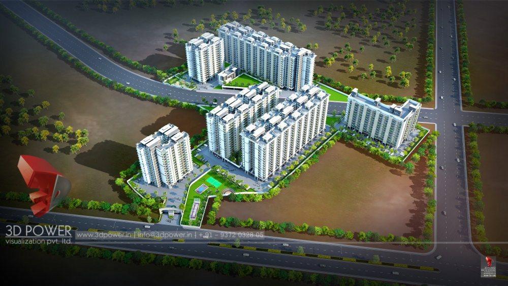 Bangalore-Elevation-front-view-apartments-flats-gallery-garden3d-real-estate-Project-walkthrough-freelance-Architectural-3dwalkthrough-freelance-company
