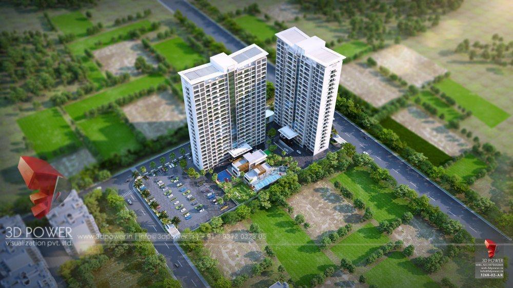 Bangalore-Highrise-apartments-top-view-multiple-flats-3d-design3d-model-animation-architectural-animation-3d-walkthrough-freelance-company-company