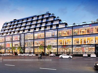 Bangalore-Mall-shoping-complex-front-elevation3d-3d-walkthrough-company-visualization-3d-Architectural-visualization-services