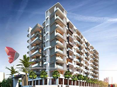 Bangalore-Side-view-highrise-apartments-walkthrough-freelance-company-service-provider