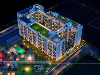 Bangalore-walkthrough-freelance-companies-3d-architectural-animation-townships-buildings-township-day-view-bird-eye-view